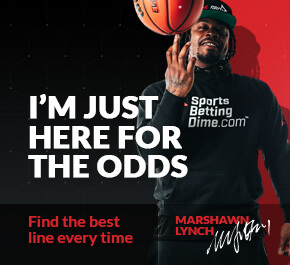 """marshawn lynch with a football with text """"i'm just here for the odds"""""""