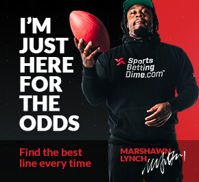 "marshawn lynch with a football with text ""i'm just here for the odds"""