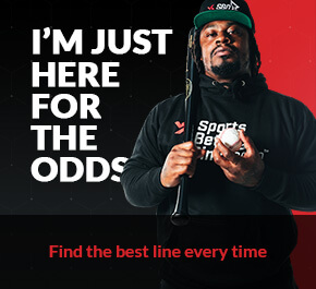 """marshawn lynch with a baseball with text """"i'm just here for the odds"""""""